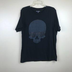 Karl Lagerfeld men's large skull print t-shirt